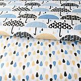 Textil - dažďové kvapky; 100 % bavlna Francúzsko, šírka 160 cm, cena za 0,5 m - 9519507_