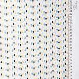 Textil - dažďové kvapky; 100 % bavlna Francúzsko, šírka 160 cm, cena za 0,5 m - 9519508_