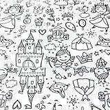 Textil - látka omaľovánka princezné; 100 % bavlna Francúzsko, šírka 160 cm, cena za 0,5 m - 9519968_