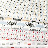 Textil - dažďové kvapky; 100 % bavlna Francúzsko, šírka 160 cm, cena za 0,5 m - 9521478_