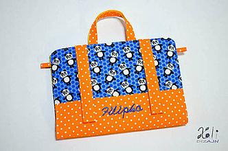 Detské tašky - Chlapčenský maxikufrík - organizér do auta Pandy s vyšitým menom - ilustračné foto - 9523210_