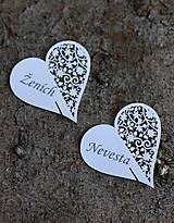 """Papiernictvo - Netradičné menovky s potlačou """"heart 3"""" - 9523088_"""