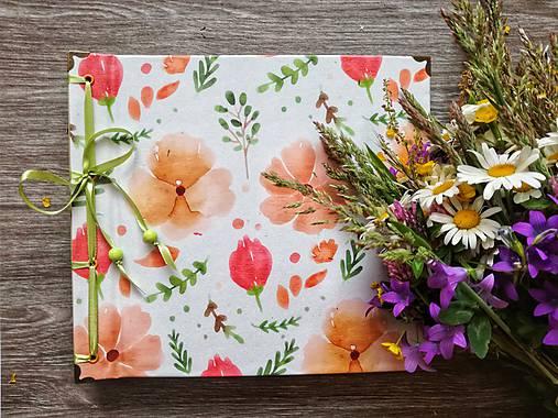 Papiernictvo - Fotoalbum klasický, polyetylénový obal s potlačou peknou kvetinkovou II. - 9521844_