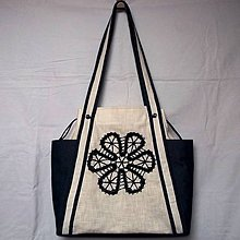 Veľké tašky - Veľká ľanová taška Tamara - 9519481_