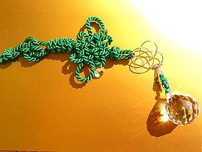 Dekorácie - Uzly štěstí s malachitem - 9520153_