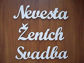 Nezaradené - Svadobné nápisy - z dreva - 9522911_