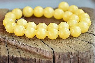 Minerály - NAT6816, Nefrit-10mm/Žltý /1ks - 9519655_