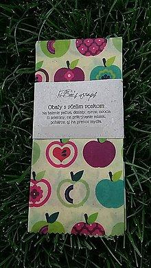 Obalový materiál - Obrúsok s včelím voskom - apple - 9522049_