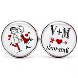 Šperky - Manžetky pre ženícha :) (kruhové - strieborné lôžko) - 9523062_