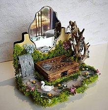 Krabičky - Šperkovnica-krajinka Labutie jazero - 9522164_