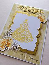 Pohľadnica Happy Wedding (HW Zlatá)