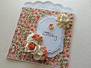 Papiernictvo - Pohľadnica Happy Birthday - 9520602_
