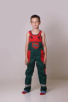 Detské oblečenie - Detské montérky zelené - 9522392_