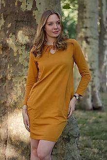Šaty - ŠATY NA DOJČENIE - CLASSIC MUSTARD - 9521458_