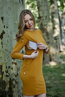 Šaty - ŠATY NA DOJČENIE - MUSTARD - 9521697_