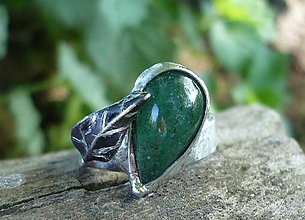 Prstene - Smaragdový kremeň - prsteň - 9521828_