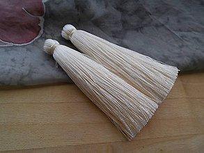 Polotovary - Strapce hodvábne - pár (Ivory) - 9519852_