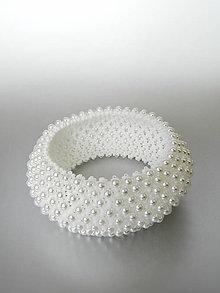 Náramky - Elegantný perličkový náramok - 9520558_