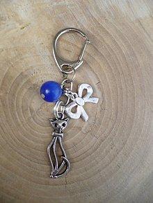 Iné šperky - kľúčenka, prívesok s mačkou a mačacím okom - 9519552_