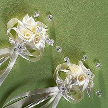 Pierka - Veľké svadobné pierka - kytičky - 9521852_
