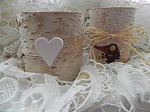 Darčeky pre svadobčanov - Svadobný svietniček z brezy - 9526103_
