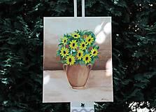 Obrazy - Kytica kvetov - predané - 9525160_