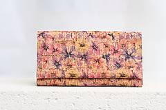 - Korková peňaženka - spring flowers - 9525194_