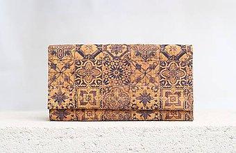 Peňaženky - Korková peňaženka - portuguese ornament - 9525192_