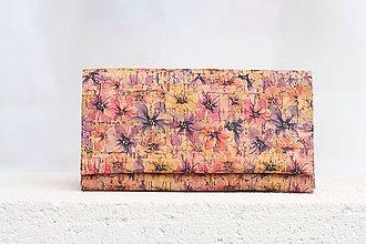 Peňaženky - Korková peňaženka - spring flowers - 9525194_