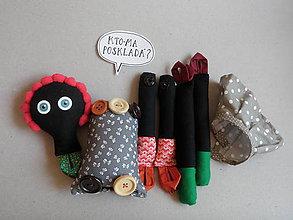 Hračky - Gombíková bábika Afi z Ghany - 9523948_