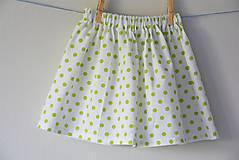 - Celesta sukňa green dots - 9524753_