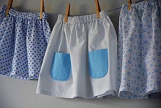 Detské oblečenie - Celesta sukňa blue - 9523941_