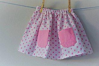 Detské oblečenie - Celesta sukňa dots - 9524220_