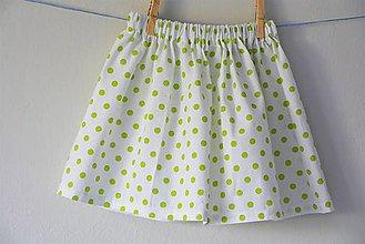 Detské oblečenie - Celesta sukňa green dots - 9524753_