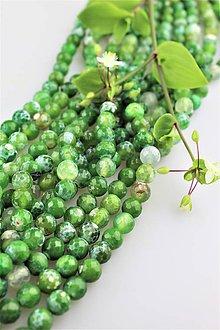 Minerály - achát smaragd korálky 10mm fazetované - 9524277_