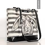 Kabelky - Zverina - ručne maľovaná kabelka - Zajac - 9525397_