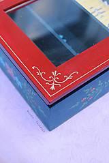 Krabičky - Ručne maľovaná krabica na čaj Anna Hindeloopen - 9524700_