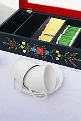 Krabičky - Ručne maľovaná krabica na čaj Anna Hindeloopen - 9524701_