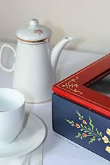Krabičky - Ručne maľovaná krabica na čaj Anna Hindeloopen - 9524706_