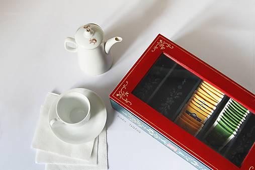 Ručne maľovaná krabica na čaj Anna Hindeloopen (16x14x7cm (4 priecinka))