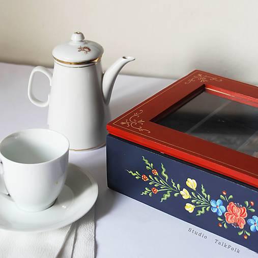 Ručne maľovaná krabica na čaj Anna Hindeloopen