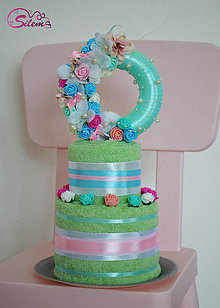 Úžitkový textil - Uteráková torta - 9524535_