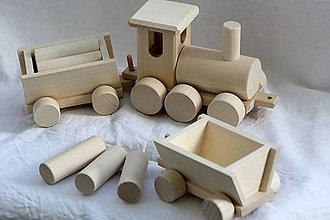 Hračky - Drevené hračky. Vláčik nákladný - 9525512_