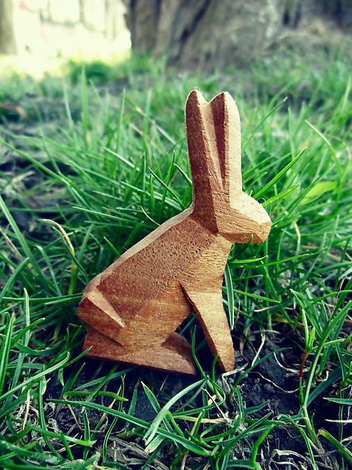 Drevená brošňa zajac poľný