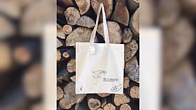 Iné tašky - ♥ Plátená, ručne maľovaná taška ♥ - 9523621_