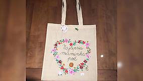 Nákupné tašky - ♥ Plátená, ručne maľovaná taška ♥ (MI24) - 9527579_