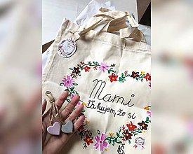 Nákupné tašky - ♥ Plátená, ručne maľovaná taška ♥ - 9525362_