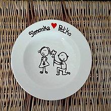 Darčeky pre svadobčanov - Svadobný tanier - 9524589_