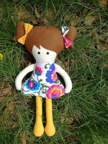 Kabelky - Kabelka s bábikou - folklór (Žltá) - 9523508_
