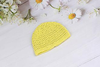 Detské čiapky - Žltá letná čiapka EXTRA FINE - 9524609_